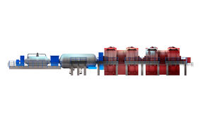 Steam Turbine. Use to produce electricity vector illustration