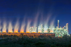 Steam turbulence of cooling tower. Stock Image
