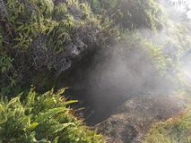 Steam vent. Volcanic steam vent looks like entrance to another world Stock Photography