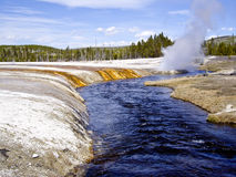 Steam vents on Yellowstone River Royalty Free Stock Image