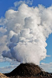 Steam volcano Stock Photography