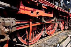 Steam wheels. Working German steam wheels closeup Royalty Free Stock Photo
