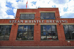 Steam Whistle Brewing is a popular brewery in Downtown Toronto 7-25-2016 Stock Image
