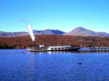 Steam yacht on Coniston Water. Stock Images