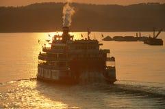 Steamboat ферзя перепада Стоковые Изображения