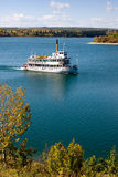 Steamboat. Cruise on reservoir / lake on summer / fall day royalty free stock photo