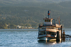 Steamboat. On Columbia River stock photography