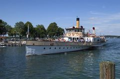 Steamboat. On the Chiemsee (Germany stock images