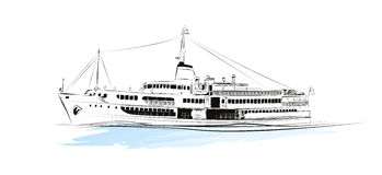 steamboat royaltyfri illustrationer