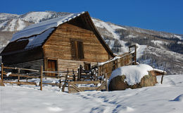Steamboat Barn. The iconic barn that sits at the base of the Steamboat Ski area stock image