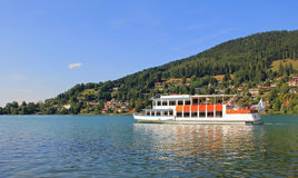 Steamboat at bavarian lake tegernsee, Germany Stock Photo
