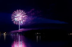 Steamboat Bay Fireworks Show Royalty Free Stock Images