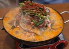 Steamboat caldo del POT dei frutti di mare coreani Fotografia Stock