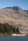 Steamboat Earnslaw na Wakatipu jeziorze, Queenstown, Nowa Zelandia Obraz Royalty Free