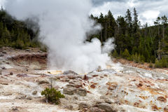 Steamboat Geyser at Norris Geyser Basin Stock Images