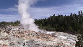 Steamboat Geyser, Yellowstone N.P. stock footage