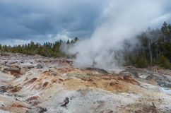 Steamboat Geyser in Yellowstone National Park, USA Royalty Free Stock Photography