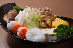 Steamboat. A Japanese style steamboat buffet royalty free stock photo