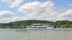 Steamboat at lake tegernsee, germany Stock Image