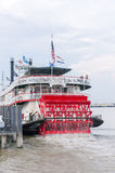 Steamboat Natchez departs on its daily cruise up the Mississippi II. Royalty Free Stock Images