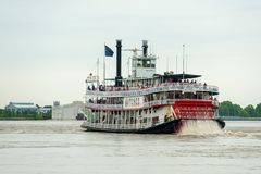 Steamboat Natchez in New Orleans, Louisiana, USA Royalty Free Stock Photos