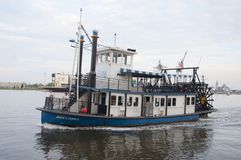 Steamboat in Norfolk, Virginia Royalty Free Stock Images