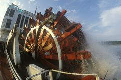 A steamboat paddle wheel on the Delta Queen Steamboat, Mississippi River Stock Photo