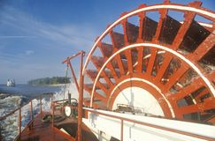 A steamboat paddle wheel on the Mississippi River Royalty Free Stock Photography