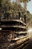 Steamboat on river Royalty Free Stock Photography