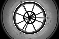 Steamboat Roof. A round window on the roof of an old steamboat Stock Photos