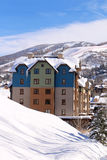 Steamboat Springs, Colorado. The City of Steamboat Springs is an internationally known winter ski resort destination. The Steamboat Springs tourism industry is stock image