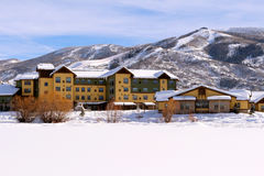 Steamboat Springs, Colorado. The City of Steamboat Springs is an internationally known winter ski resort destination. The Steamboat Springs tourism industry is royalty free stock photography