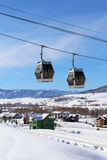 Steamboat Springs, Colorado. The City of Steamboat Springs is an internationally known winter ski resort destination. The Steamboat Springs tourism industry is stock images