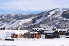 Steamboat Springs, Colorado. The City of Steamboat Springs is an internationally known winter ski resort destination. The Steamboat Springs tourism industry is Stock Photography