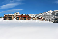 Steamboat Springs, Colorado. The City of Steamboat Springs is an internationally known winter ski resort destination. The Steamboat Springs tourism industry is royalty free stock photo