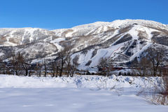 Steamboat Springs, Colorado. The City of Steamboat Springs is an internationally known winter ski resort destination. The Steamboat Springs tourism industry is Royalty Free Stock Images