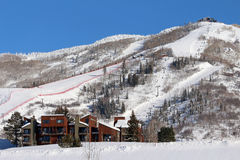 Steamboat Springs, Colorado. The City of Steamboat Springs is an internationally known winter ski resort destination. The Steamboat Springs tourism industry is Stock Photos