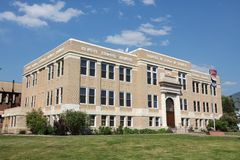 Steamboat Springs. Colorado, USA. Routt County Courthouse in Steamboat Springs stock photo