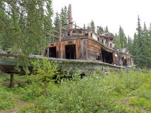 Steamboat wreck Evelyn at Hootalinqua Yukon Canada Stock Photo