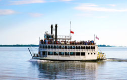 Steambout on Lake Ontario near Toronto for a summer cruise. And celebration on a sunny day Royalty Free Stock Image