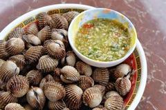 Steamed отбелил clams Стоковые Фотографии RF