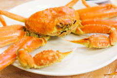 Steamed Alaska King Crab Stock Image