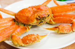 Steamed Alaska King Crab Stock Photos