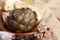 Steamed Artichoke Stock Image