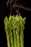 Steamed asparagus royalty free stock images