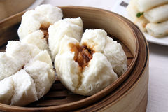 Steamed Barbecue Pork Bun royalty free stock images