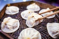 Steamed a bourré le petit pain (le long bao de Xiao) Image libre de droits