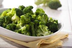 Steamed broccoli Stock Photos