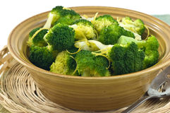 Steamed broccoli Stock Images