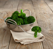 Steamed broccoli in a bowl Royalty Free Stock Image